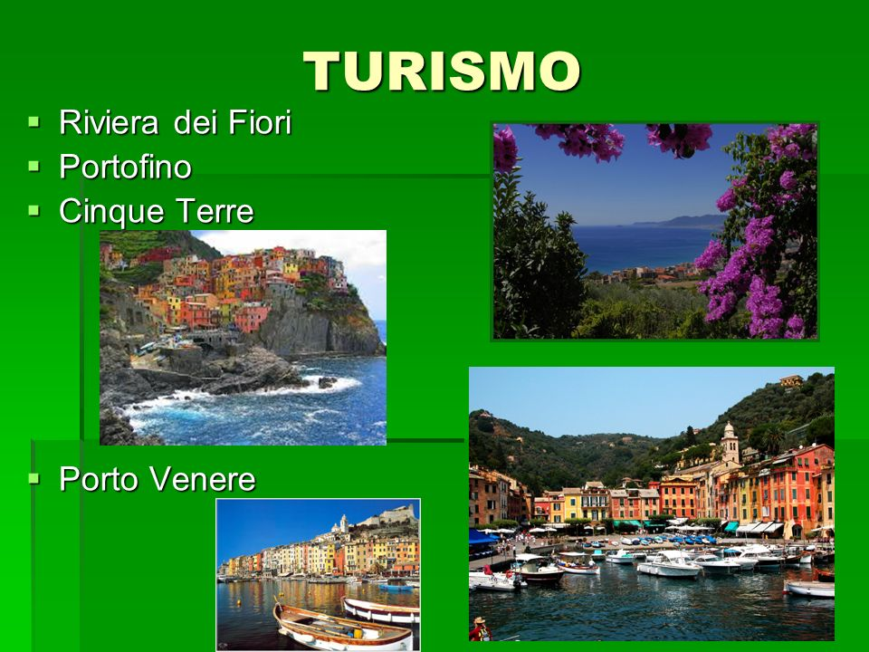 TURISMO Riviera dei Fiori Portofino Cinque Terre Porto Venere