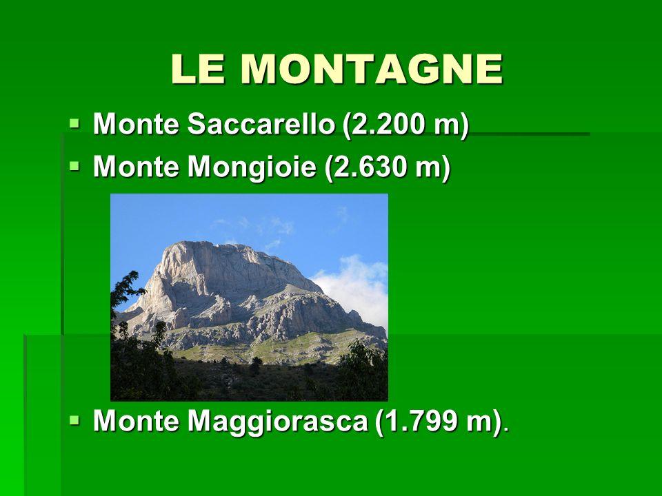 LE MONTAGNE Monte Saccarello (2.200 m) Monte Mongioie (2.630 m)