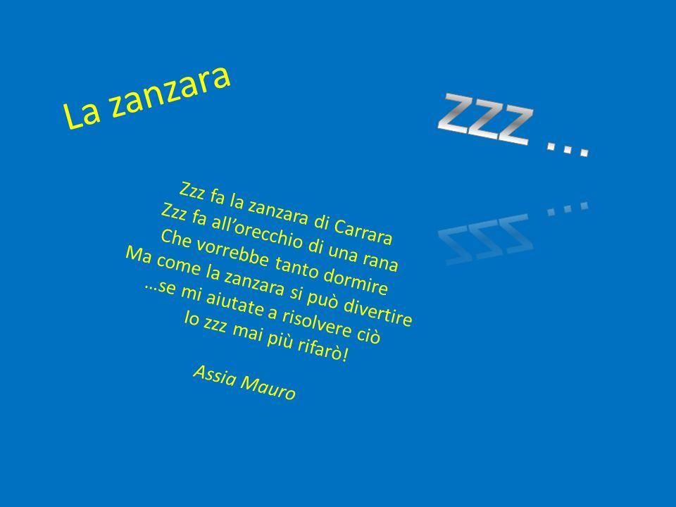 ZZZ … La zanzara Zzz fa la zanzara di Carrara