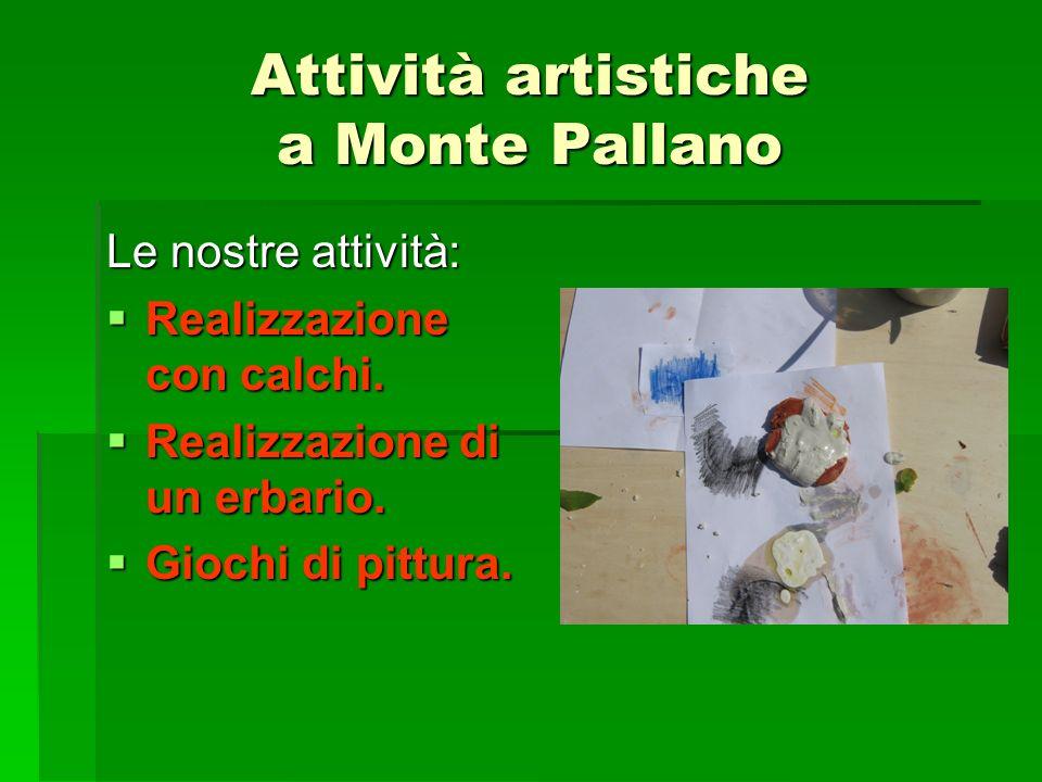 Attività artistiche a Monte Pallano