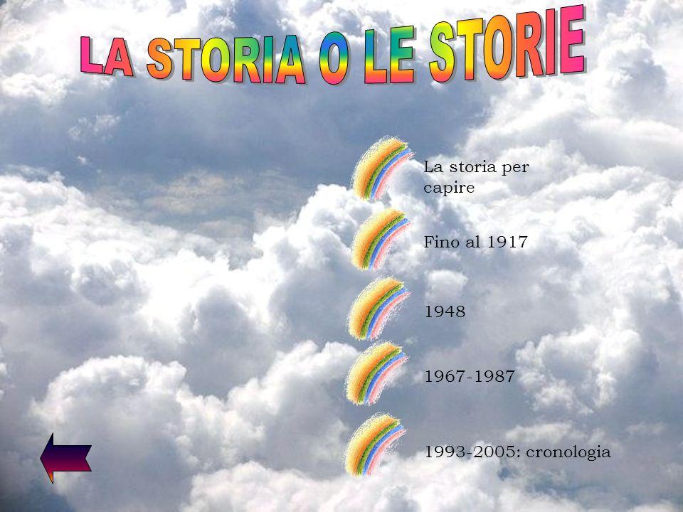 LA STORIA O LE STORIE La storia per capire Fino al 1917 1948 1967-1987