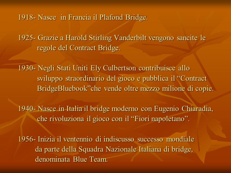 1918- Nasce in Francia il Plafond Bridge.