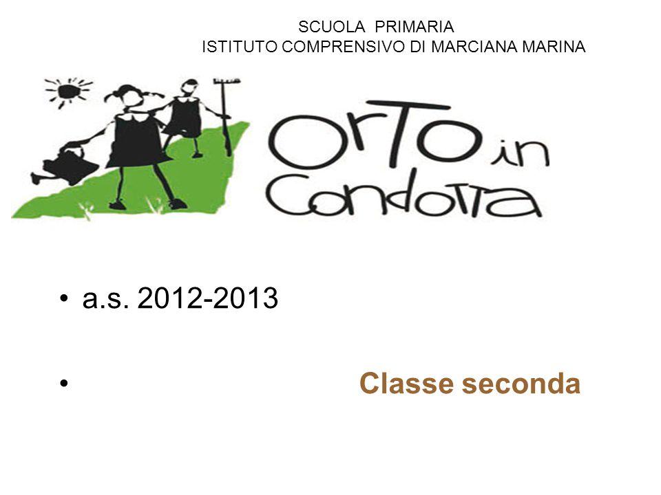 a.s. 2012-2013 Classe seconda SCUOLA PRIMARIA
