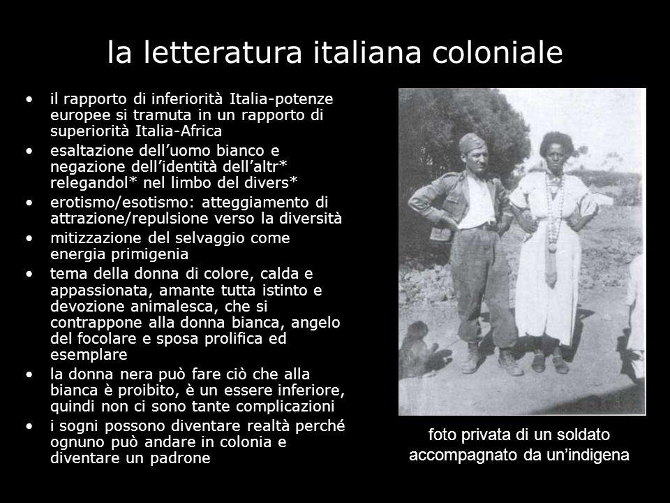 la letteratura italiana coloniale