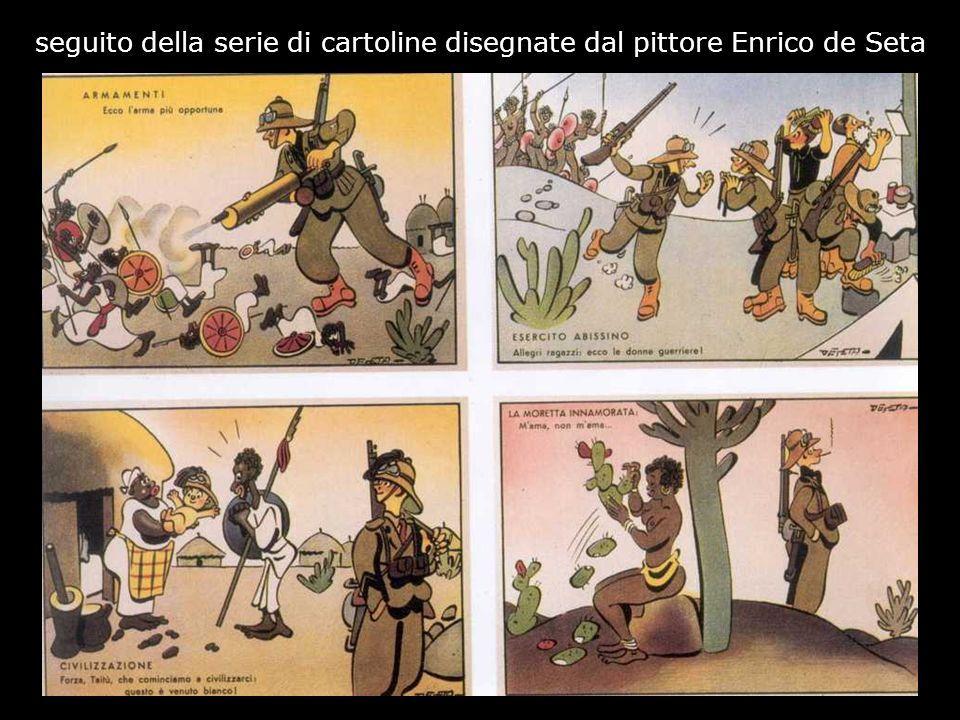seguito della serie di cartoline disegnate dal pittore Enrico de Seta