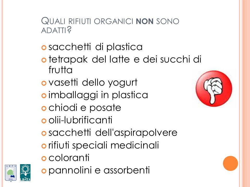 Quali rifiuti organici non sono adatti