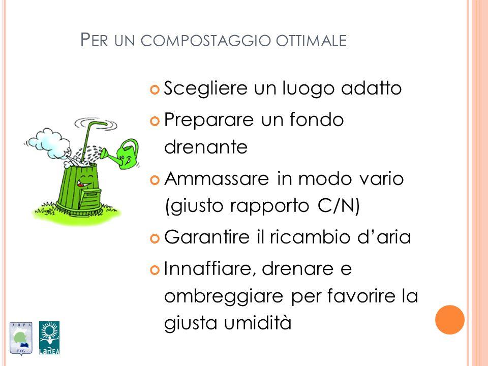 Per un compostaggio ottimale