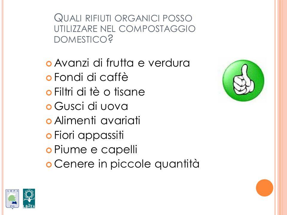 Quali rifiuti organici posso utilizzare nel compostaggio domestico