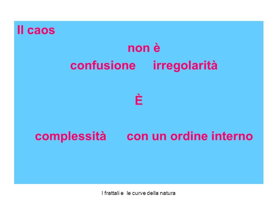 confusione irregolarità complessità con un ordine interno