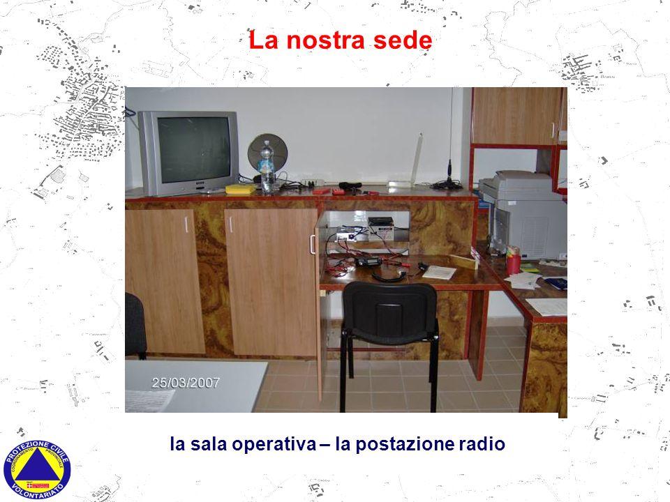 la sala operativa - postazione telematica