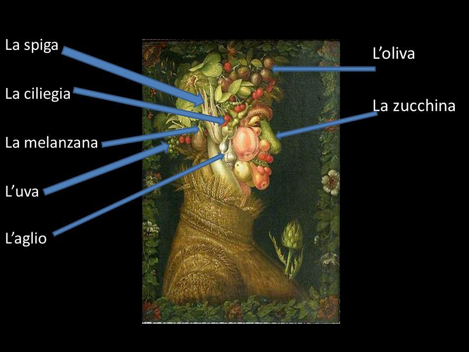 La spiga La ciliegia La melanzana L'uva L'aglio L'oliva La zucchina