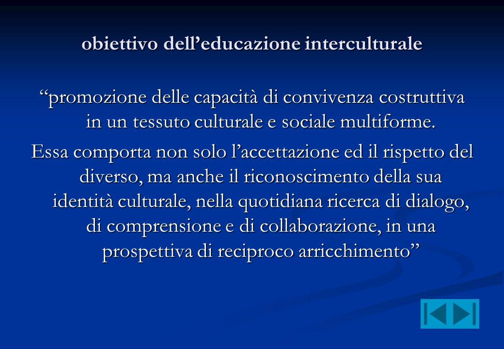 obiettivo dell'educazione interculturale
