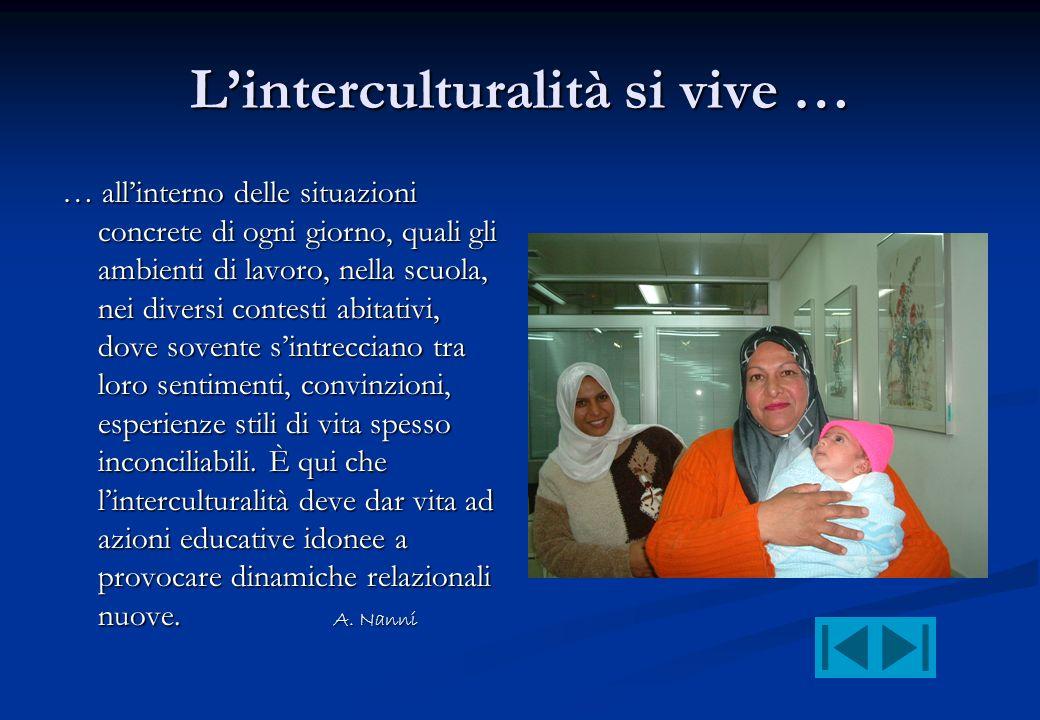L'interculturalità si vive …