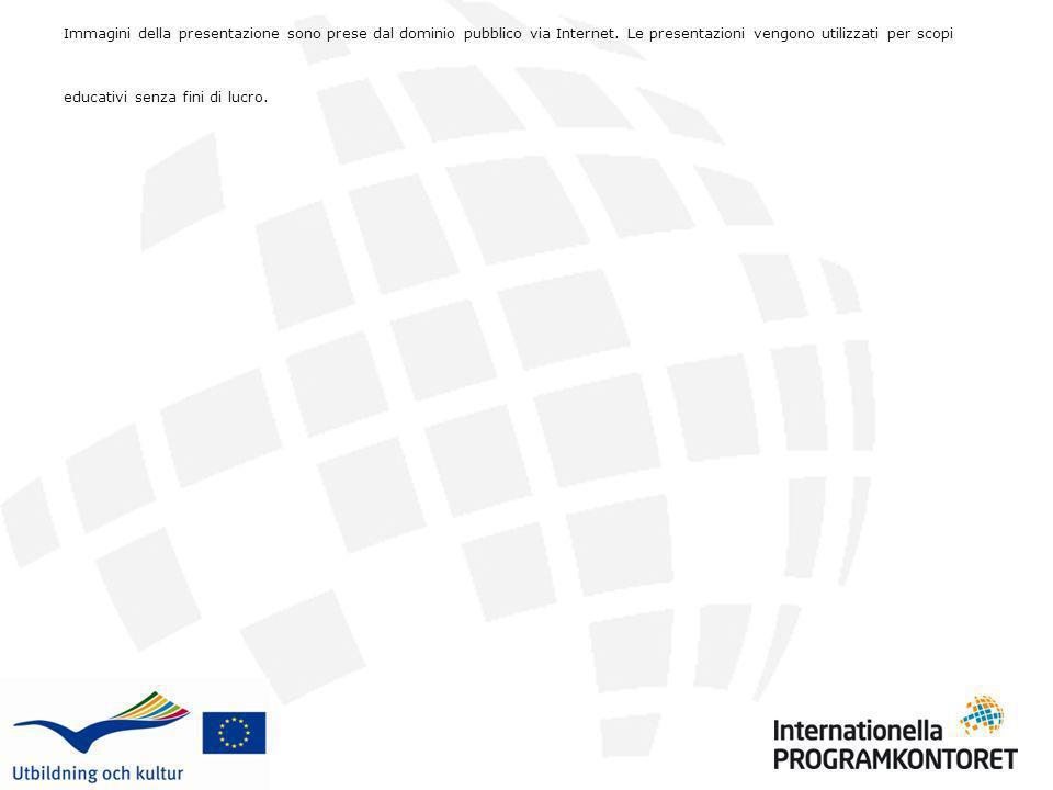 Immagini della presentazione sono prese dal dominio pubblico via Internet. Le presentazioni vengono utilizzati per scopi educativi senza fini di lucro.