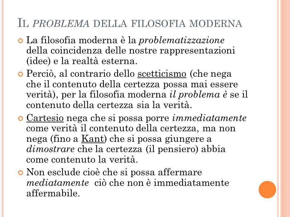 Il problema della filosofia moderna