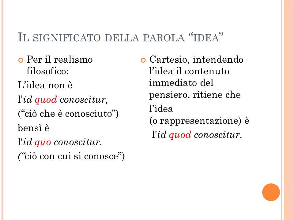 Il significato della parola idea
