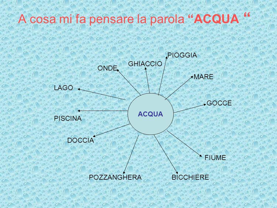 A cosa mi fa pensare la parola ACQUA