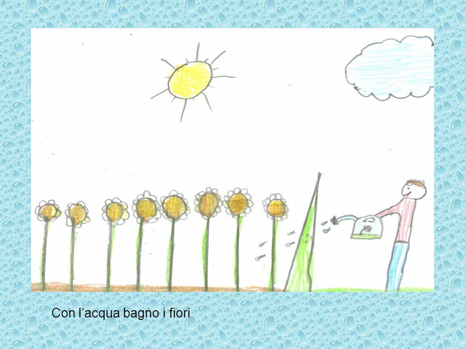 Con l'acqua bagno i fiori