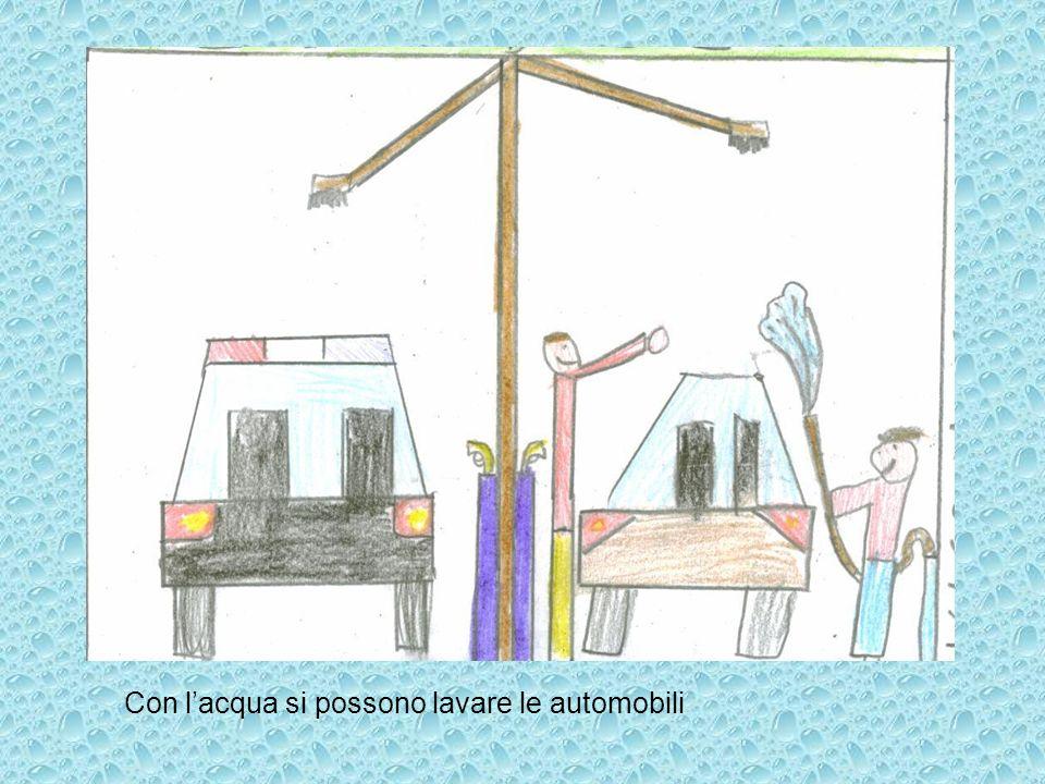 Con l'acqua si possono lavare le automobili