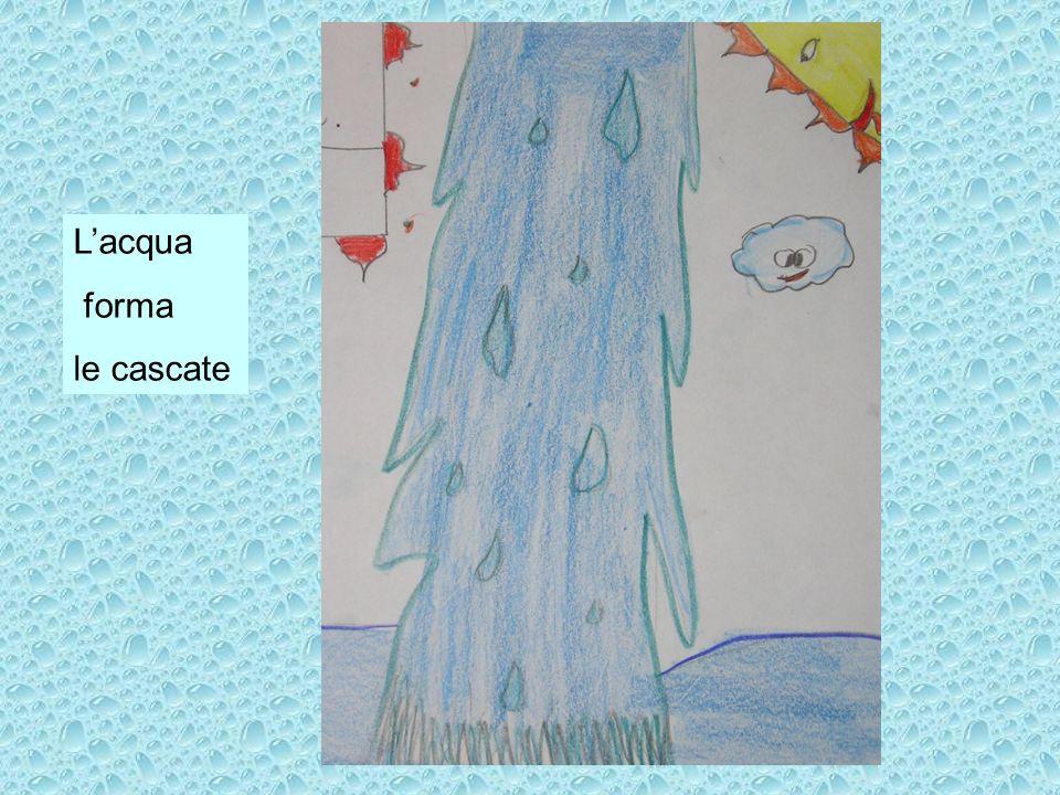 L'acqua forma le cascate