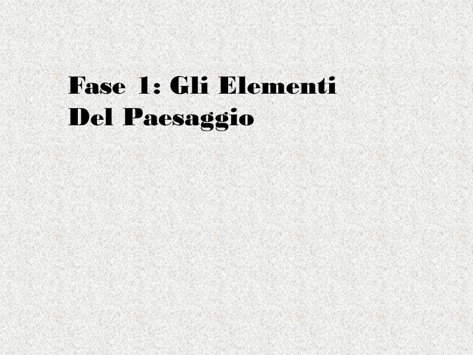Fase 1: Gli Elementi Del Paesaggio