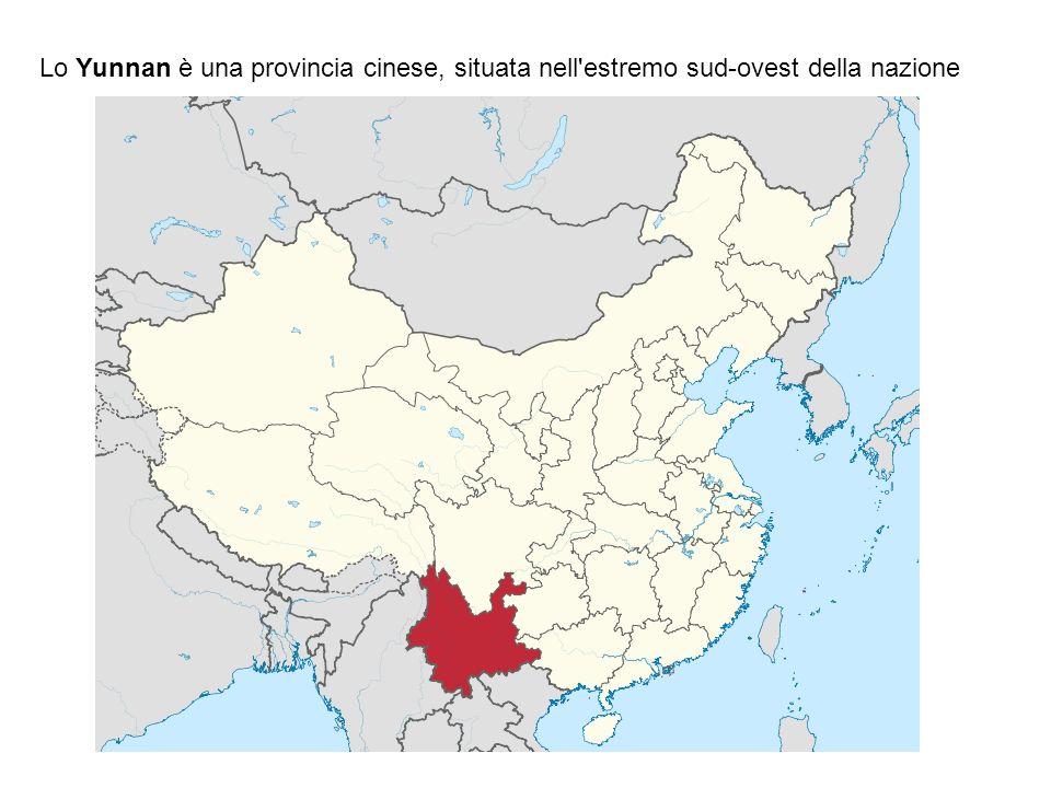 Lo Yunnan è una provincia cinese, situata nell estremo sud-ovest della nazione