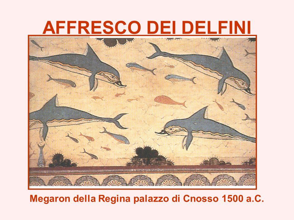 AFFRESCO DEI DELFINI Megaron della Regina palazzo di Cnosso 1500 a.C.