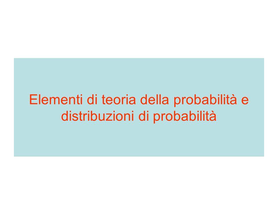 Elementi di teoria della probabilità e distribuzioni di probabilità