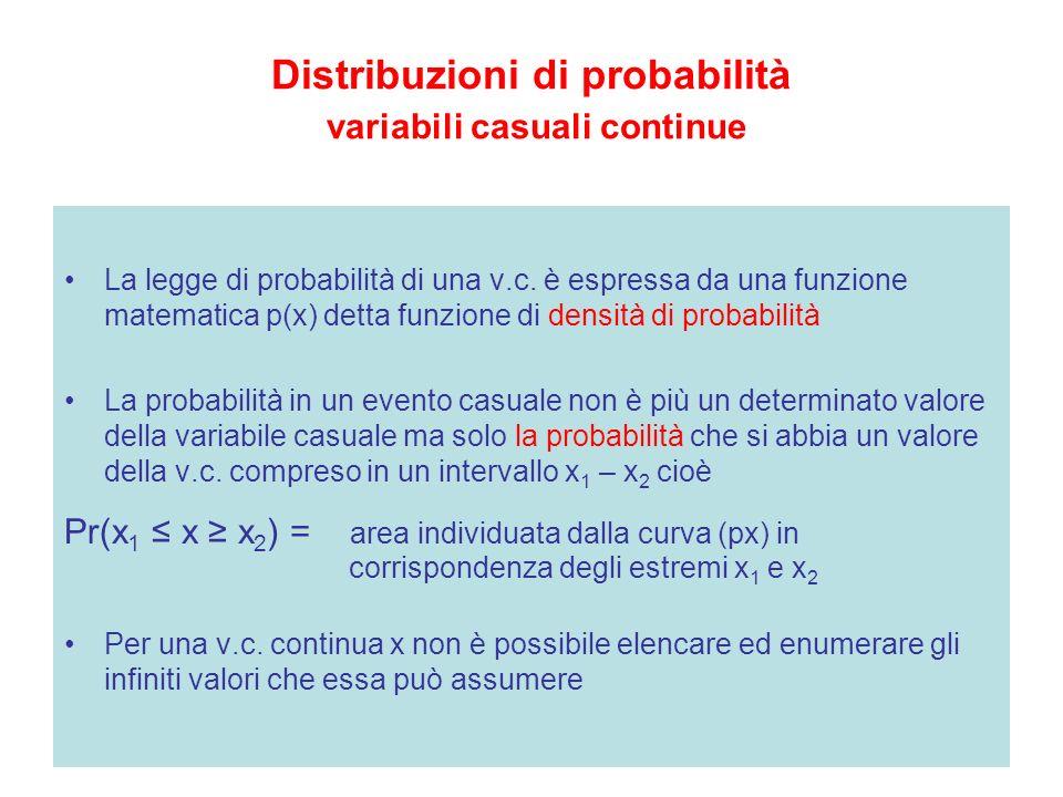 Distribuzioni di probabilità variabili casuali continue