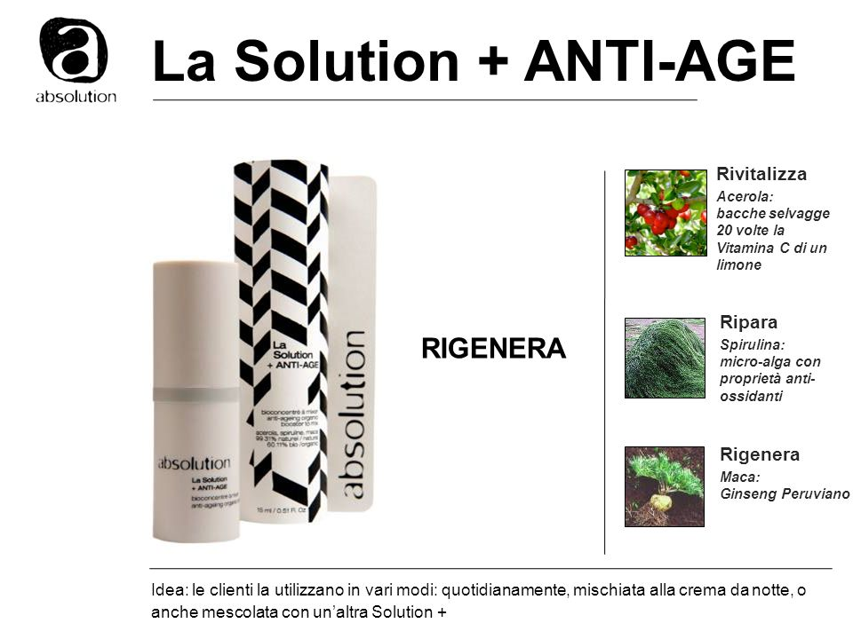 La Solution + ANTI-AGE RIGENERA Rivitalizza Ripara Rigenera