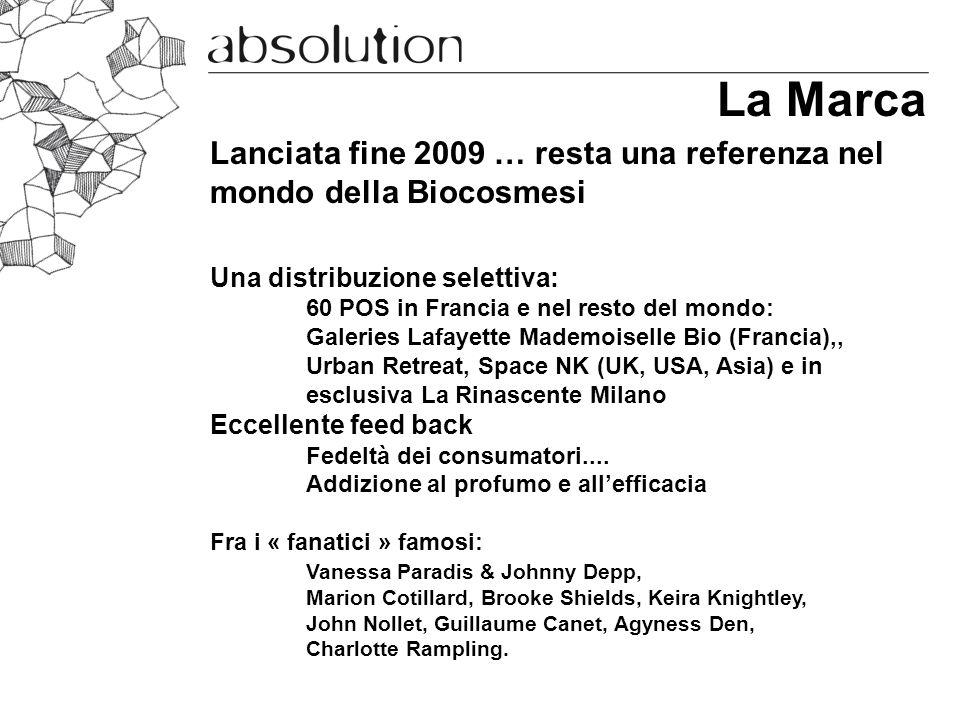 La Marca Lanciata fine 2009 … resta una referenza nel mondo della Biocosmesi. Una distribuzione selettiva: