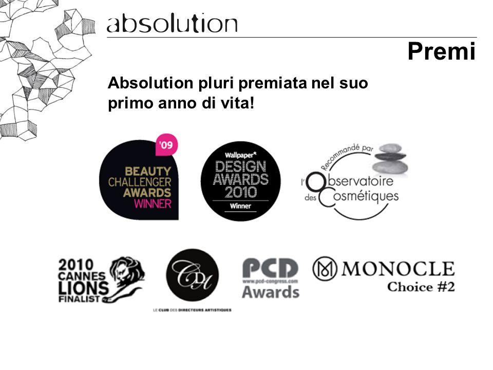Premi Absolution pluri premiata nel suo primo anno di vita!