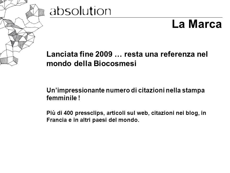 La Marca Lanciata fine 2009 … resta una referenza nel mondo della Biocosmesi. Un'impressionante numero di citazioni nella stampa femminile !