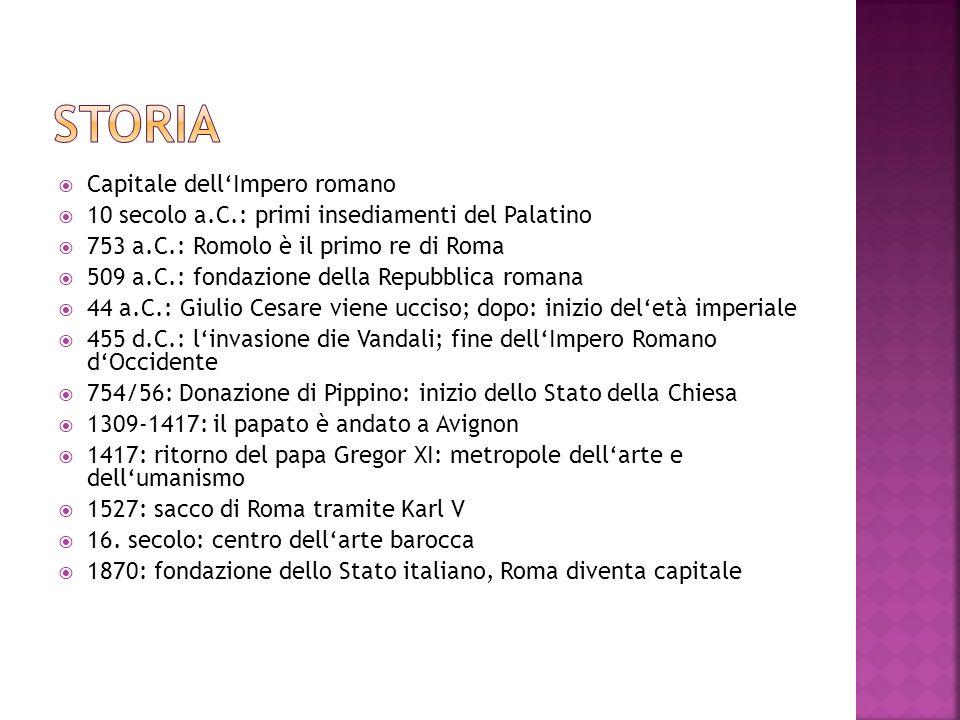 storia Capitale dell'Impero romano