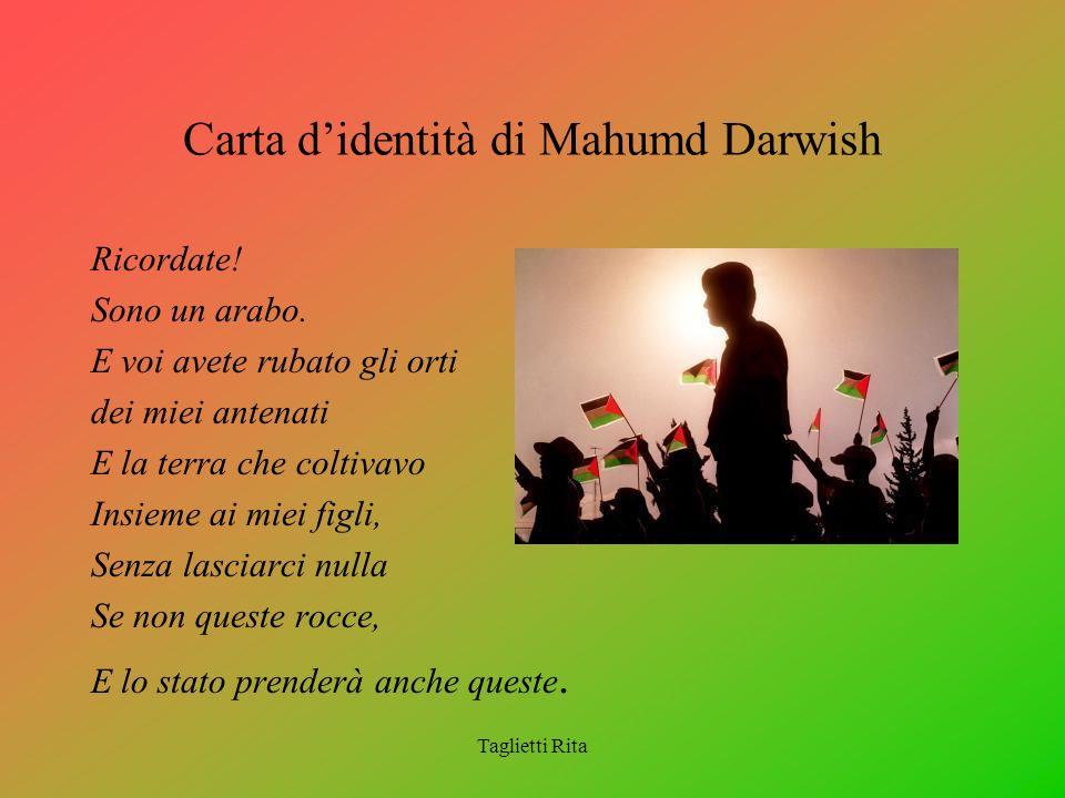 Carta d'identità di Mahumd Darwish