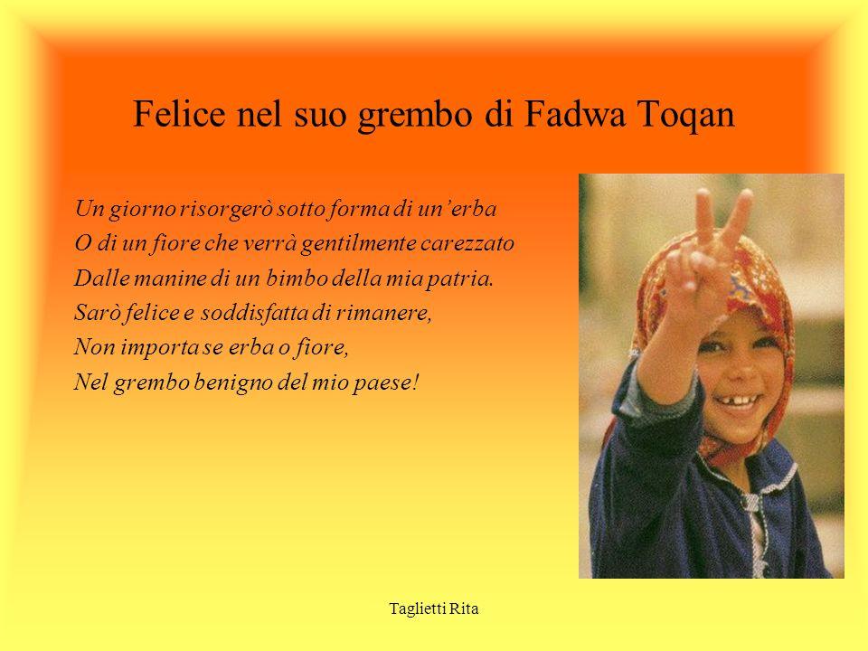 Felice nel suo grembo di Fadwa Toqan
