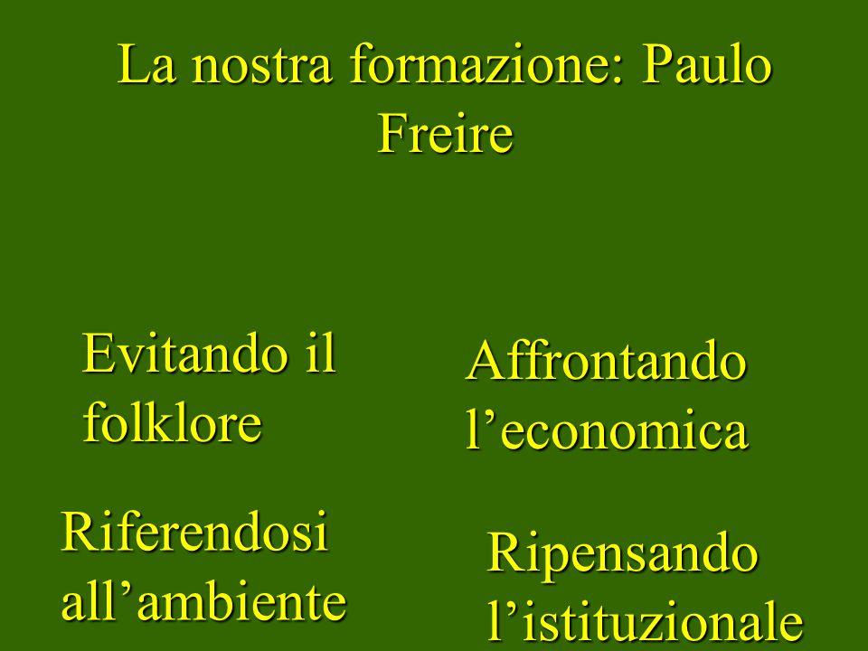 La nostra formazione: Paulo Freire