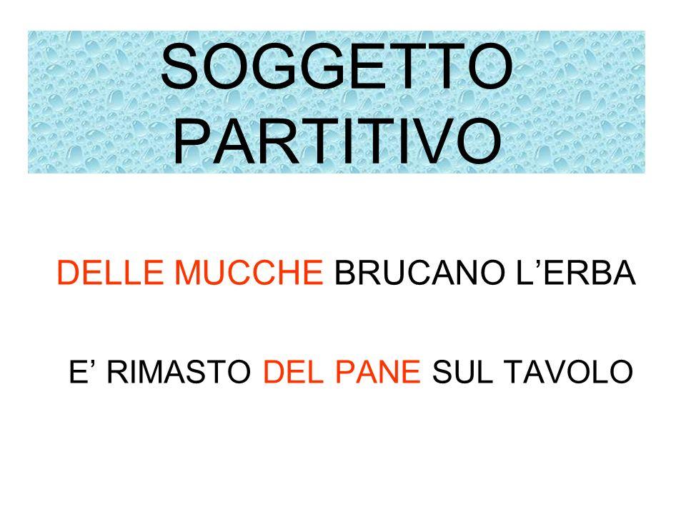 SOGGETTO PARTITIVO DELLE MUCCHE BRUCANO L'ERBA