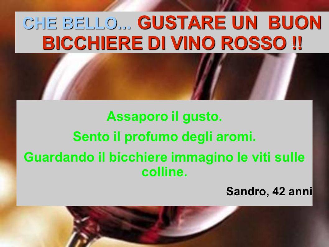 CHE BELLO... GUSTARE UN BUON BICCHIERE DI VINO ROSSO !!