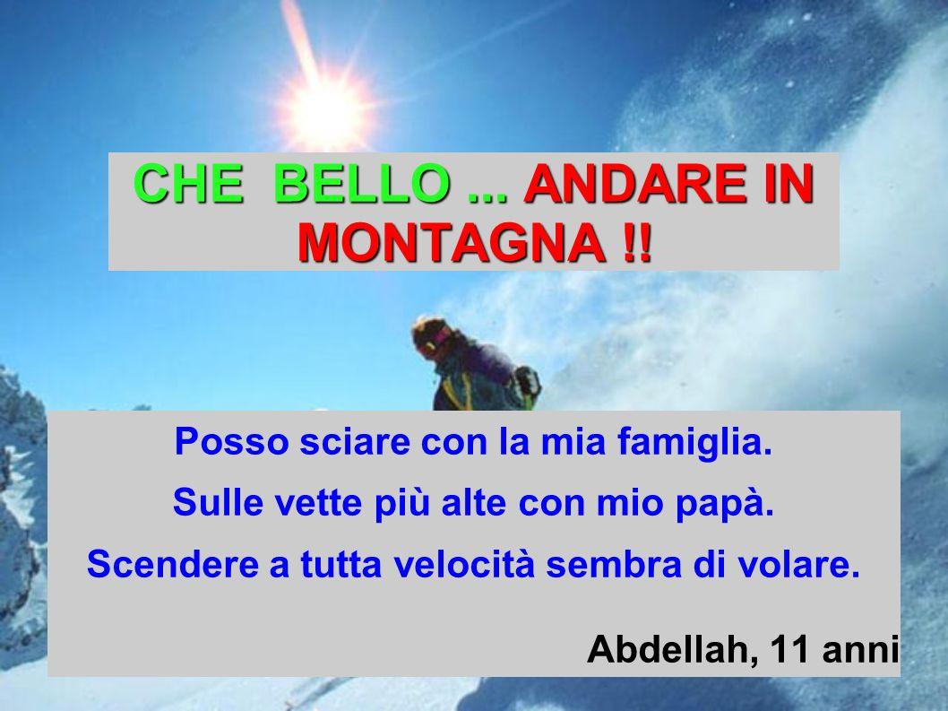 CHE BELLO ... ANDARE IN MONTAGNA !!