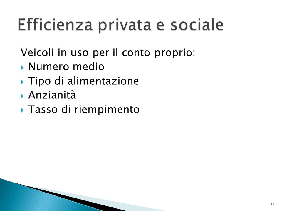 Efficienza privata e sociale