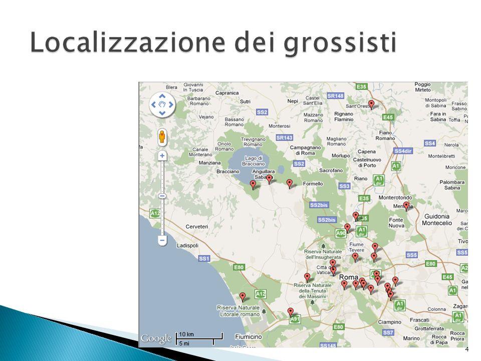 Localizzazione dei grossisti