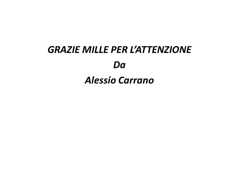 GRAZIE MILLE PER L'ATTENZIONE Da Alessio Carrano