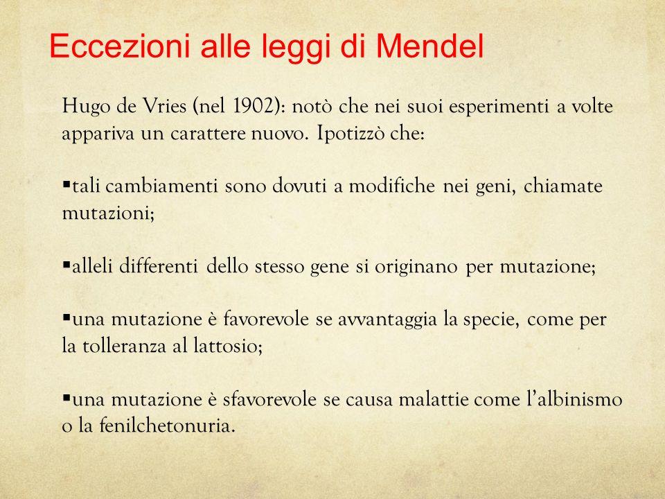 Eccezioni alle leggi di Mendel
