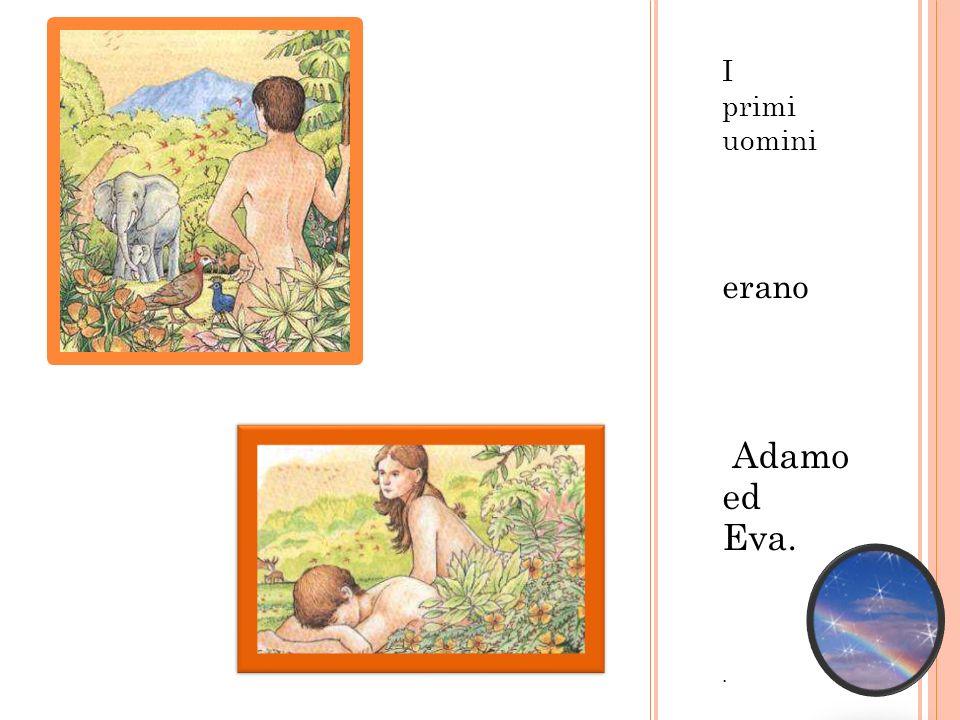 I primi uomini erano Adamo ed Eva. .