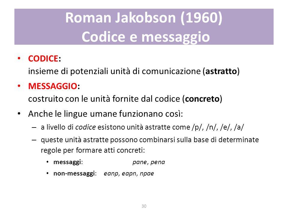 Roman Jakobson (1960) Codice e messaggio
