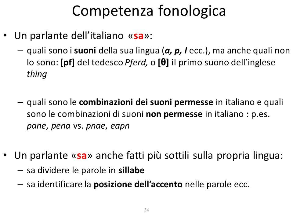 Competenza fonologica