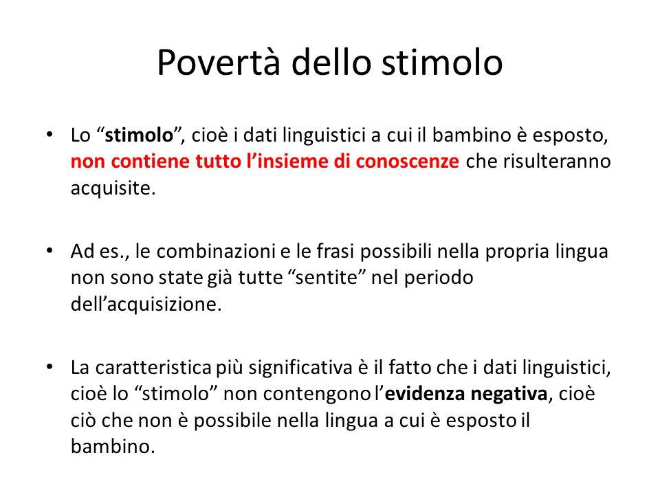 Povertà dello stimolo