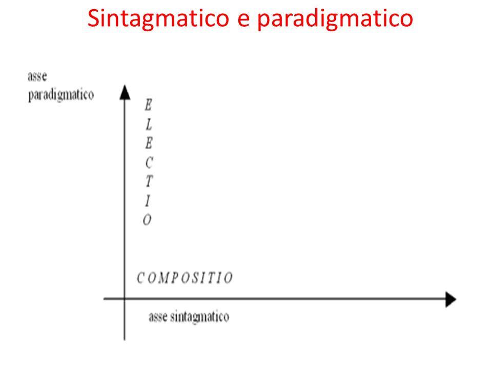 Sintagmatico e paradigmatico