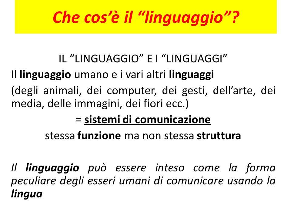 Che cos'è il linguaggio